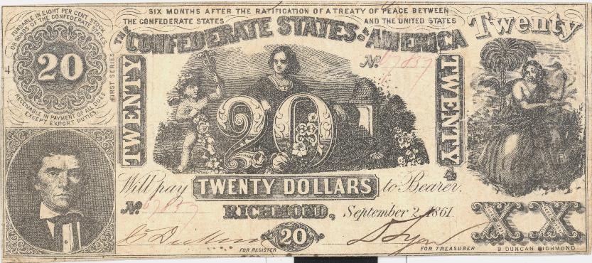CONFEDERATE STATES OF AMERICA FINANCIAL INSTRUMENTS