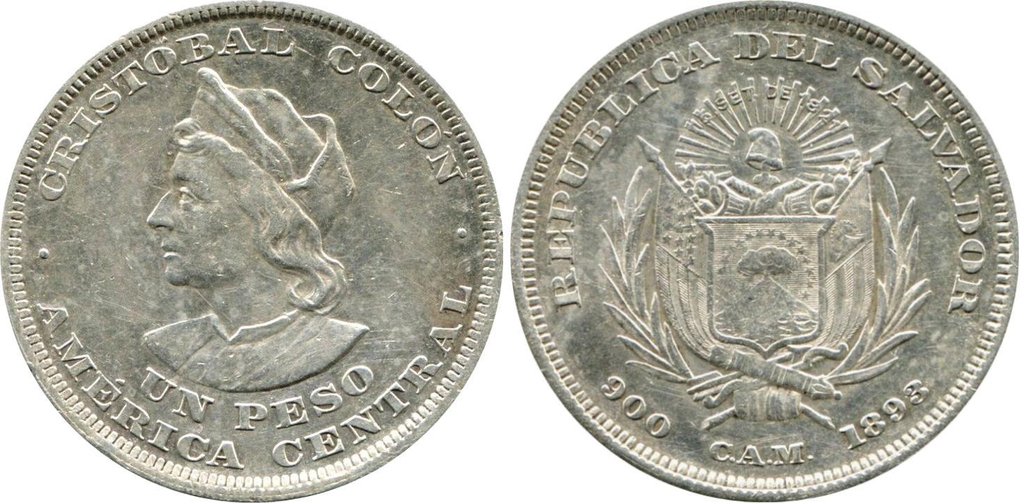 COINS EL SALVADOR 1953 SILVER 0.900-50 CENTS PRICE FOR 1 PIECE