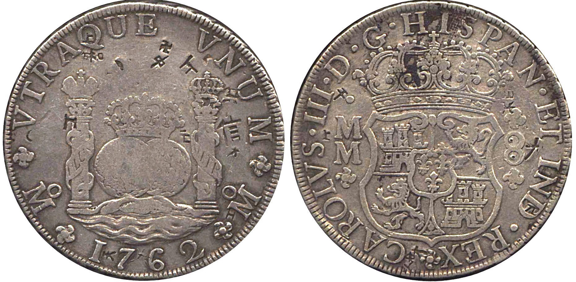 Earnest 1807 Th Mexico 8 Reale Chopd Bust King Charles Iv U.s First Silver World Coin Coins & Paper Money
